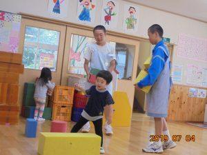 小中野中学校2年生グッジョブウィーク。お兄さんたちとたくさん遊びました。